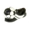 Acrylic-Soccer Shoes With Ball 20mm White/Black